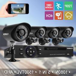 4CH CCTV System 1080P HDMI DVR Security Camera Day/Night Vid