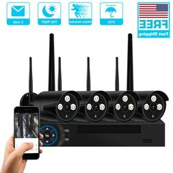 4CH HD 1080p Audio Security IP Camera System Wireless 2MP WI