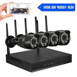 4CH HD 1080P WiFi NVR Video Recorder 4*1080P Waterproof IP C