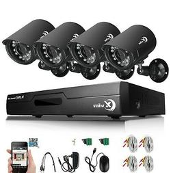 XVIM 4CH CCTV Security Camera System HDMI HD 720P Outdoor Vi