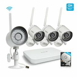 Funlux 4CH HDMI NVR 4 720p Wireless Home Video Security Came