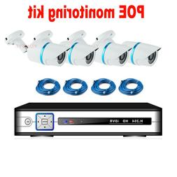 YUNSYE 4CH NVR Kit 1080P POE Camera <font><b>System</b></fon