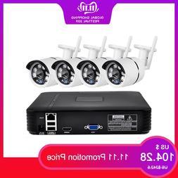 FUERS 4Ch NVR WIFI Video Surveillance <font><b>System</b></f