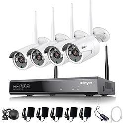 SANNCE 4CH 720P HD NVR Wireless Security CCTV Surveillance S
