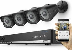 Amcrest 720P 4CH Tribrid  Video Security System - Four 1.0 M