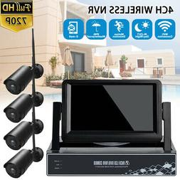 4CH WiFi Security Camera System Wireless Outdoor IP CCTV NVR