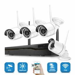 4CH Wireless 1080P NVR Outdoor indoor WIFI HD Camera CCTV Se