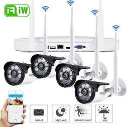 4CH Wireless 1080P NVR Outdoor IR 720P IP WIFI Camera CCTV S