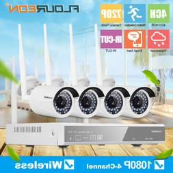4CH Wireless CCTV 1080P DVR Kit Outdoor WLAN 720P IP Camera