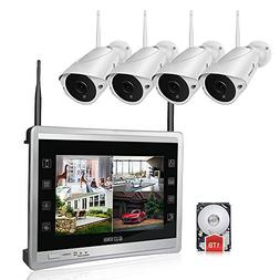 """Luowice Audio Wireless Security Camera System with 11"""" Mon"""