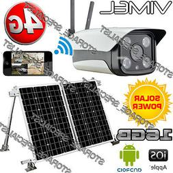 4G Solar Farm Camera Wireless Security GSM Home IP Alarm Sys