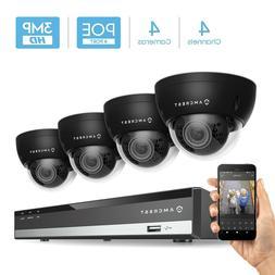 Amcrest 4K 4CH H.265 6MP NVR 3MP Security Camera System  POE