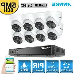 ANNKE 4K 8CH 5in1 DVR 8x 5MP PIR Outdoor IP67 Dome Security