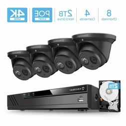 Amcrest 4K 8CH Security IP Camera System POE NVR 4 X 8MP Tur