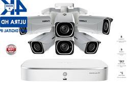 Lorex 4K IP Camera System with 6 UHD 4K Metal Cameras, 130ft