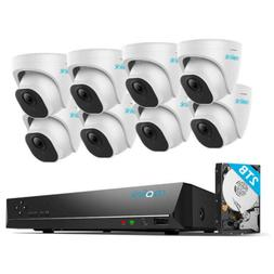 4K Security Camera System 8MP 8CH POE NVR Kit 7/24 Recording