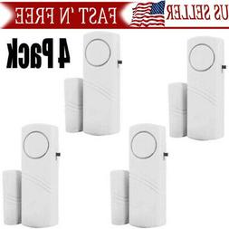 4Packs  Wireless Security Burglar Alarm Home Window Door Sys