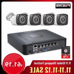 Fuers 4pcs 4MP 4CH AHD <font><b>DVR</b></font> CCTV Camera <