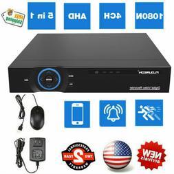 5-In-1 4CH AHD 1080N HDMI H.265 Home CCTV DVR Security Camer