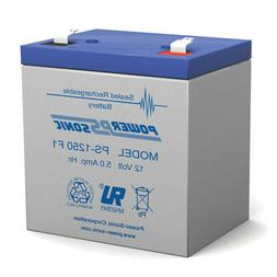 Powersonic 12V 5AH SLA Battery Replacement for GE Concord 4