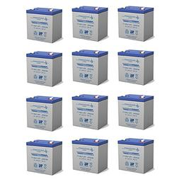 Powersonic 12V 5AH SLA Battery Replaces GE Concord 4 Securit