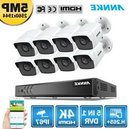 ANNKE 5in1 4K 8MP 8CH DVR 8x 5MP Outdoor Security Camera Sys