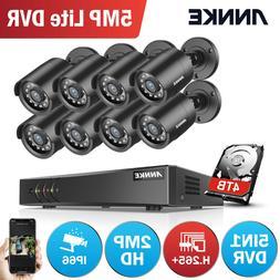 ANNKE 5MP 8CH H.265+DVR 1080P CCTV Camera In/Outdoor Home Se