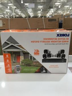 Lorex 6 Camera 4k Active Deterrence Wired Network Security S
