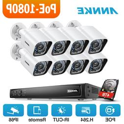 ANNKE 6MP 8CH NVR 2MP 1080P POE IP Network CCTV Security Cam