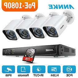 ANNKE 6MP 8CH NVR POE 1080P IR IP Camera Security System Sma
