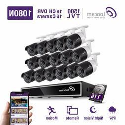 Loocam 720P 16CH DVR Surveillance CCTV Outdoor Security Came