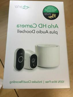 Arlo 720P HD Security Camera System with Audio Doorbell VMK3