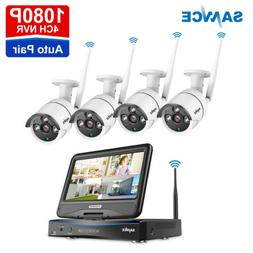 "SANNCE Wireless 10"" LCD Monitor Security IP Camera System 72"