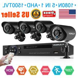 8 Channel 1080N AHD DVR Outdoor 1500TVL IR Video Recorder Ca