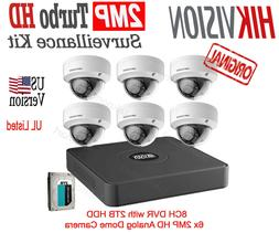 Hikvision T7108Q2TB 8-Channel 1080p DVR with 2TB HDD and 6 1
