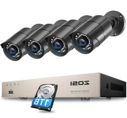 5b1f9c67f ZOSI 8 Channel 1080N DVR 1TB Hard Drive 720P Outdoor CCTV Se