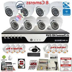 8 Channel 1080p Complete CCTV Surveillance Security Camera S
