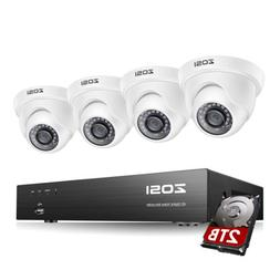 8 Channel 1080P DVR 720p Outdoor Home Surveillance Security