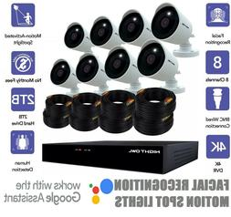 Night Owl 8 Channel 4K UHD Security System w/ 8 4k Spotlight
