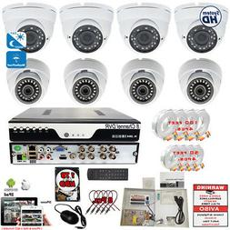 8 Channel Complete Security Surveillance Camera System Night