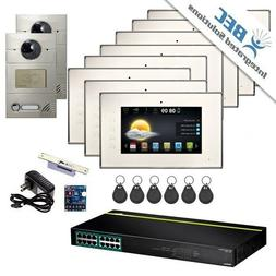 8 Monitor Apartment Home Security Remote Surveillance Video