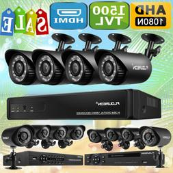 4CH/8CH 1080N AHD DVR 1500TVL Cameras Home CCTV Security Sur