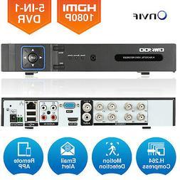 8CH 1080N AHD DVR CCTV Surveillance System Video Recorder Fo