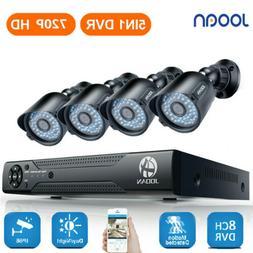 JOOAN 8CH 1080N DVR 720P Home Outdoor Surveillance Security