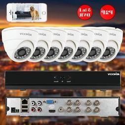 KKmoon 8CH 1080P 5 in1 AHD DVR 8pcs 720P Dome CCTV Camera CC