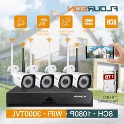 8CH 1080P DVR Outdoor Security Camera System Home Surveillan