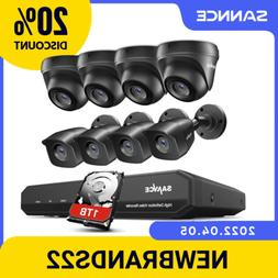 SANNCE 8CH 1080P HDMI 5IN1 DVR HD 1080P CCTV Camera Night Vi