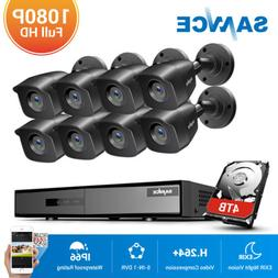 SANNCE 4CH 8CH DVR Outdoor 1080P Security Camera System H.26