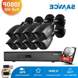 SANNCE 8CH 1080P HDMI DVR Full 2MP Video CCTV Security Camer