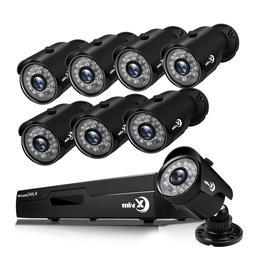XVIM 8CH 1080P HDMI DVR Outdoor 1920TVL Night Vision CCTV Se